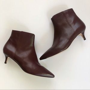 Cole Haan Shoes - NEW✨Cole Haan Vesta Leather Kitten Heel Bootie 9.5